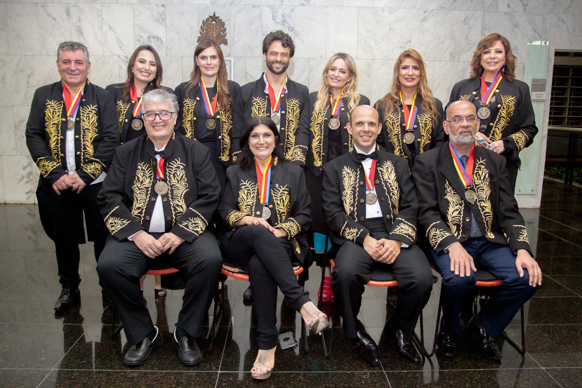 Posse dos novos acadêmicos da Academia de Ciências Letras  e Artes de São Paulo