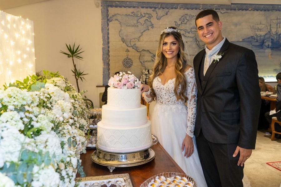 Os noivos Isabella Jantorno e Igor Dórea Wilken