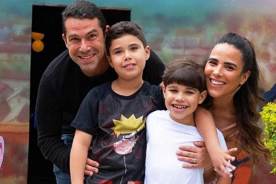 Marcus Buaiz com Wanessa Camargo e os filhos